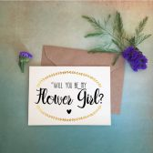 flower girl, flower girl proposal, card, gold, gold card, proposal card, junior bridesmaid, jr. bridesmaid, bridesmaid, maid of honor, matron of honor