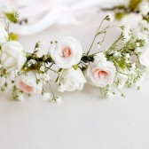 Flower Girl Crown, Toddler Crown, Baby's Breath & Rose Crown
