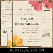 Vintage Floral Invitation Suite