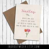 Floral Will You Be My Flower Girl card