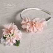 hiffon Ruffle Flower Headband with Corsage