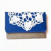 Royal Blue Fold Over Clutch