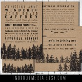 Woodland Forest Kraft Paper Invitation Suite