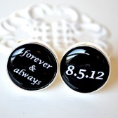 Forever and Always Personalized Date Cufflinks