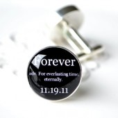 Forever Definition Custom Cufflinks