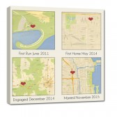 4 map location canvas bride groom