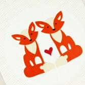 Fox Love Card for Wedding