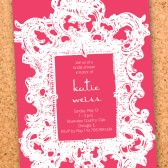 vintage elegance bridal shower invitation