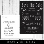 Chalkboard Floral Save the Date