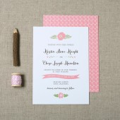 Garden Floral Wedding Invitation