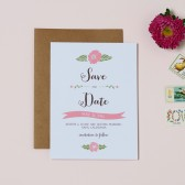 Garden Floral Save the Date