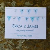 Garland Save the Date Card