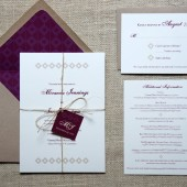 Geometric Rustic Wedding Invitations