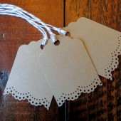 Small Blank Doily Lace Gift Favor Tags