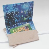 Gift Card Case in blue batik