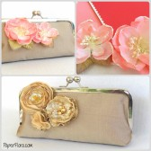 Gold and Coral clutch