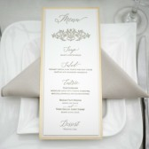 Letterpress wedding menu