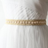 Gold Beaded Bridal Sash