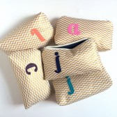 Gold chevron customizable bags