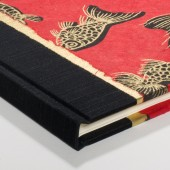 Guest Book Gold and Black Fish
