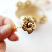 Gold Flower Bobby Pins, Bridal Hair Pins, Wedding Bobby Pins, Gold Flower Hair Clips, Small Bridal Flowers, Bridesmaid Pins, Gold Hair Pins