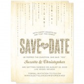Champagne Gold Glitter Streaming Gems Save The Dates by The Spotted Olive