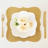 Gold Glitter Silhouette Paper Placemats