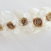 Gold Rose Hair Vine, Bridal Hair Vine, Gold Bun Tiara