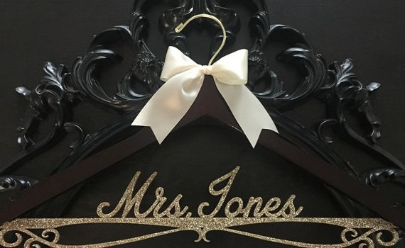 gold wedding hanger