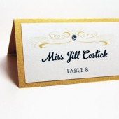 Elaina Collection – Retro Vintage Flourish Place Cards