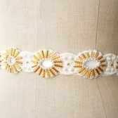 Sunburst Gold Beaded Sash