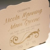 Gold Scroll Save the Date