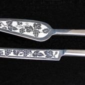Vineyard Wedding Cake Server Set