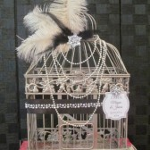 Great Gatsby Wedding Card Holder with Pearls
