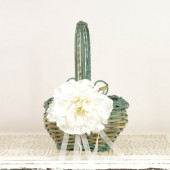 Mint Green Flower Girl Basket