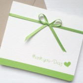 Green Wedding Thank You Card