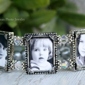 Vintage Photo Bracelet for Bride