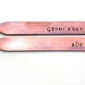 Groomsman Personalized Collar Stays- Copper