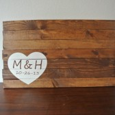 Personalized Wood Sign Wedding Guest Book