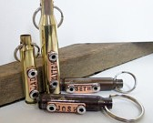 Personalized Gun Bullet Keychain with Names