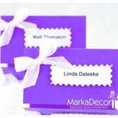 Personalized Place Sitting Guest Cards 2x3,5 inches Set of 10