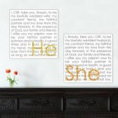 His & Hers Wall sign vows on canvas