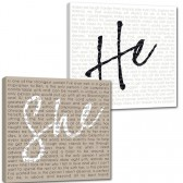 he she wedding vows signs for the home cotton anniversary gifts
