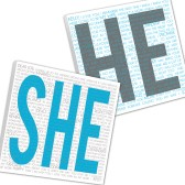 He She Wedding Sign