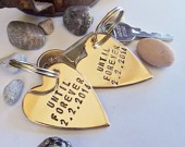 Personalized His and Her Keychains