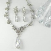 Hearts and Flowers Wedding Jewelry Set