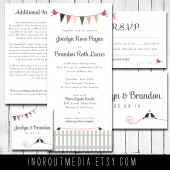 Hearts and Birds Invitations