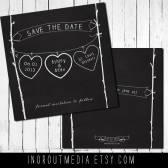 Hearts on a String Save the Date
