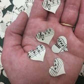 Heart Sheet Music Confetti, Music Hearts, Music Wedding, Wedding Confetti