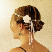 hemp-headband-wedding-hair-piece, flower-crown, pearls, bridesmaids-hair-accessory, white